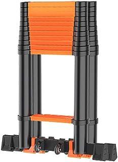 Extension ladder Multi-Purpose adjustable Ladder Aluminium Lightweight Folding Loft Compact premium extension ladder (Colo...