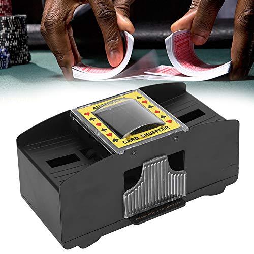 Automatischer Kartenmischer, Kartenmischmaschine, elektrischer automatischer Shuffler für 2 Poker Kartenspiele in Standardgröße geeignet für Freunde der Familie die gemeinsam Kartenspiele spielen