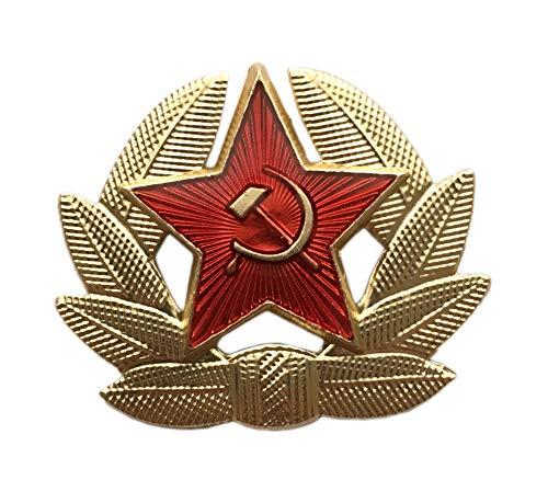 Ganwear® Russische sowjetische rote Armee Stern UDSSR Kokarda Kosaken Trapper Pelz Hut Kappe Baskenmütze Brosche Abzeichen