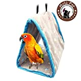 Parrot Perch Tents, Mrlipet Winter Warm Bird Animal Plush Snuggle Hammock Hanging Snuggle Cave Happy Hut Hideaway Small