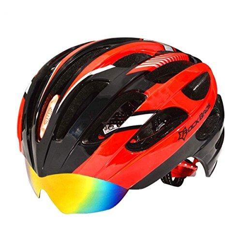 ROCKBROS Casco con Gafas Desmontable de Ciclismo MTB Bicicleta de Carretera 57-62cm...