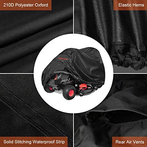 """Eventronic Riding Lawn Mower Cover, 54"""" Riding Lawn Tractor Cover Waterproof Heavy Duty Durable (210D-polyester Oxford)"""