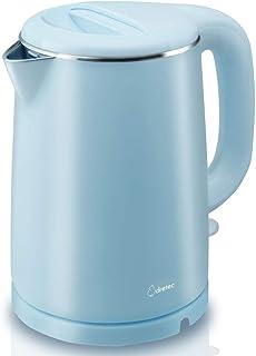 dretec(ドリテック) ステンレスケトル 【触っても熱くない二重構造】 おしゃれ コーヒー 湯沸し 1.0L PO-146BL(ブルー)