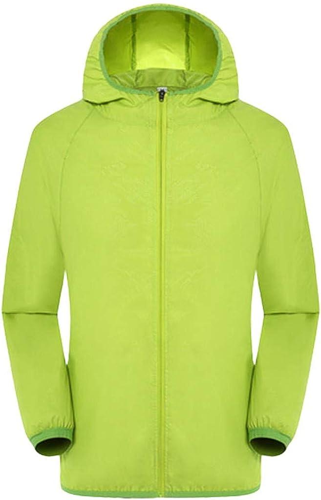 Men Women Casual Ultra-Light Jackets Windproof Rainproof Windbreaker Shell Trench Coat