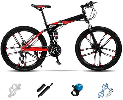 Bicicleta de montaña plegable ligera bicicleta de montaña plegable City Commuter Bike hombres mujeres bicicleta de montaña 24 pulgadas 26 pulgadas doble disco Bicicleta-AT_24''