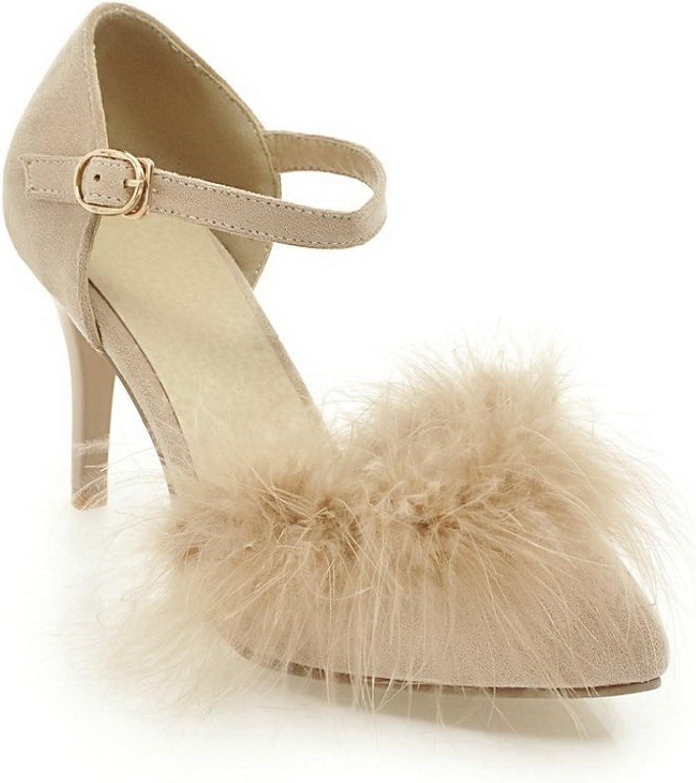 BalaMasa Womens Sandals High-Heel Huarache Urethane Sandals ASL04806