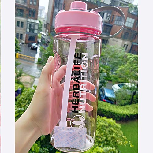 PUK 1000ml 1L/2L Candy Color Black Oversized 1000ml/2000ml Portable Herbalife Nutrition...