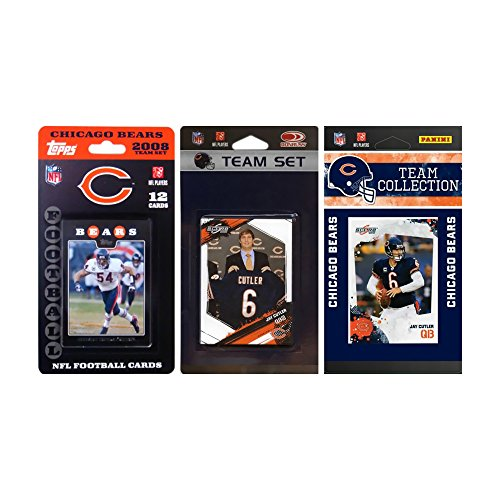 NFL Chicago Bears 3 verschiedene Lizenz-Sammelkarten Team Sets