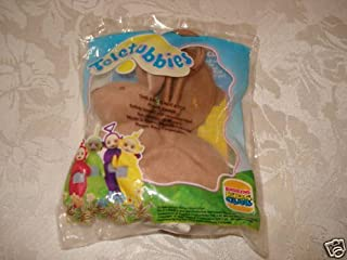 Teletubbies Burger King Toy: Plush Brown Bunny Rabbit Fingerpuppet with Keyclip (1999)