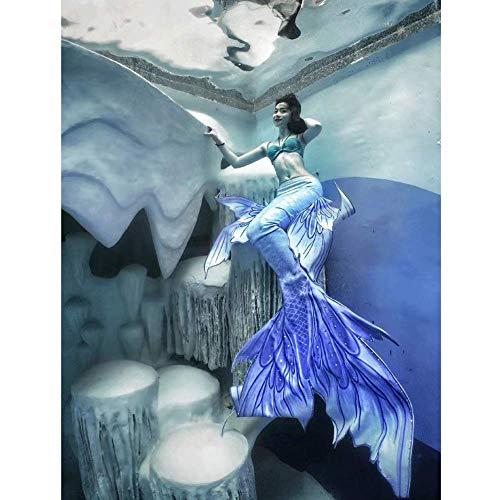 Cola De Sirena Bikini Set para Niña, Traje De Bano Sirena, Adecuado para Fiestas En La Piscina O En La Playa(Color:Estilo-U)