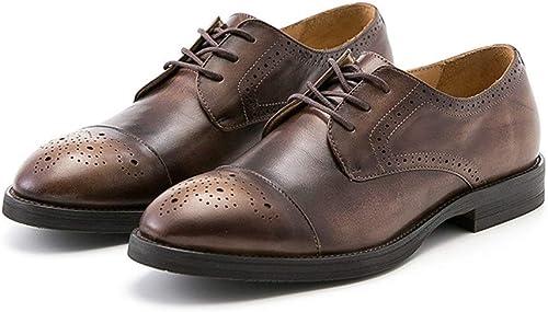 Calzado de Hombre Calzado Retro Hecho a Mano para Hombre Calzado de Cuero para Hombre Hecho a Mano Brock Tallado de Negocios .zapatos de Moda