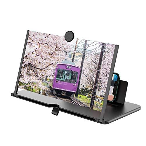 OTentW Telefonbildschirmlupe, Faltbarer Handybildschirmverstärker, Für Filme, Videos, 3-fache Gaming-Vergrößerung Antireflex