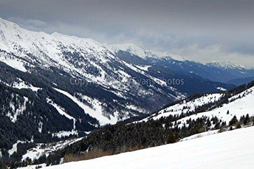 Meribel-Mottaret Foto 45,7 x 30,5 cm Fotodruck von Meribel-Mottaret 3 Täler Skigebiet Französische Alpen Frankreich alpines Foto Fotodruck Fine-Art Print Fotografie von Andy Evans Photos