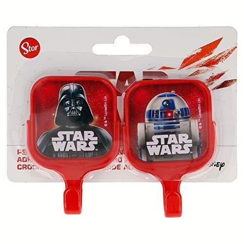 Star Wars Lot de 2 cintres carrés Auto-adhésifs 5 x 8 cm Couleur (Stor st-15014)