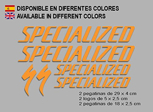Ecoshirt 0P-JUMX-BOXS Pegatinas Special F123 Vinilo Adesivi Decal Aufkleber Клей MTB Stickers Bike, Naranja