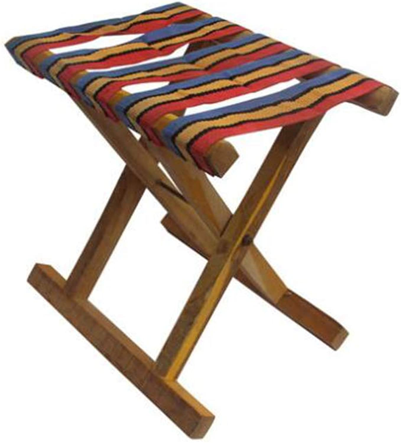 YQQ Mazza Small Bench Folding Chair Portable Fishing Stool Solid Wood 23  28CM Change shoes Stool
