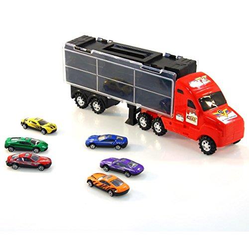 Betoys Camion avec 6 voitures de courses