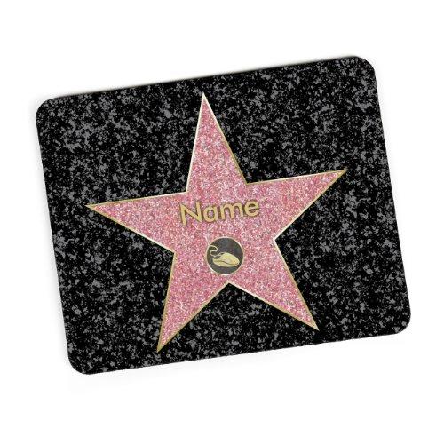 Herz & Heim® Mauspad mit Wunschname - Walk of Fame -