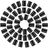 50 cerraduras de plástico de silicona para cordones de cordón, hebilla de cordón ajustable, conectores de cordón con cordón para ajustar las hebillas