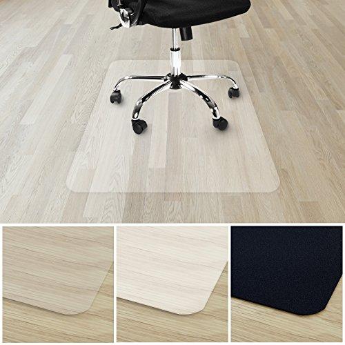 etm® Bodenschutzmatte für Hartboden | 100% ohne BPA & Phthalate - Geruchsfrei | Bürostuhlunterlage für zuhause und im Büro | viele Größen (transparent - 90x120 cm)