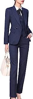 navy pinstripe suit women