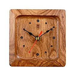 XZ max ^Desk Clock Rosewood Mute Small Table Clock Fashion High-end Table Clock Modern Simple Solid Wood Clock Creative Quartz Small Clocks Bracket Clock (Color : B)