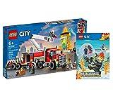 Collectix Lego 60282 - Juego de mesa de bomberos (tapa blanda), diseño de Lego City