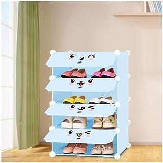 XWZH Cabinet de Chaussures Anti-poussière 4 - Cube imbriquée Porte-armoires Armoire Armoire Debout Cube Rangement étagères...