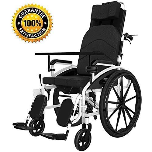 DGPOAD Silla De Ruedas Plegable Y Autopropulsable | Pedal Plegable | Aluminio | Gran Seguridad Y Robustez | Asiento Y Respaldo Ergonómicos | Ancho del Asiento: 47cm | Peso Máximo Soportado 100 Kg