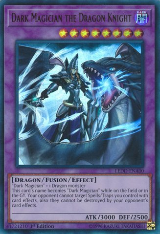 Dark Magician the Dragon Knight - LEDD-ENA00 - Ultra Rare - 1st Edition