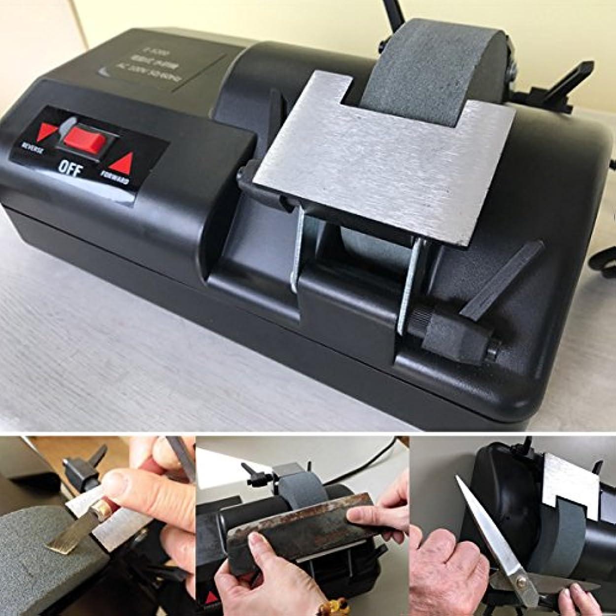 火炎いたずらなポンド電動式水研機 卓上刃物研ぎ器 E-5200 グラインダー研磨機 とぎ器