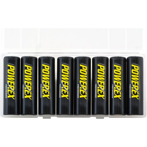 Powerex Low Self-Discharge Precharged AA Rechargeable Nimh Batteries, (MH-8AAP-BH)