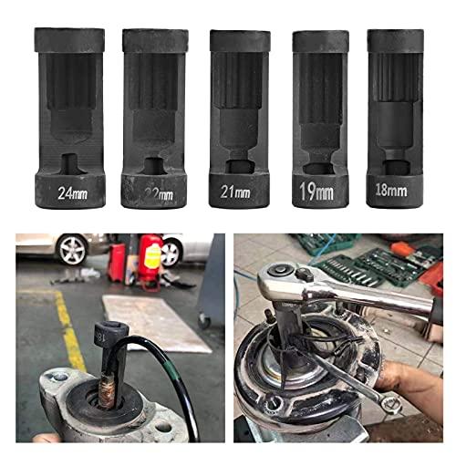 Tenpac Herramienta de puntal de suspensión, 5 Piezas de aleación de Aluminio para Tuercas de puntal para Herramientas manuales para Suministros de automóviles y Motocicletas