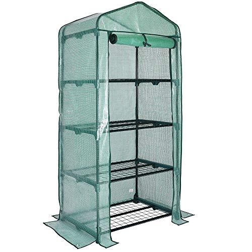 Gardebruk Invernadero de Lona con 4 estantes Vivero de jardín para Plantas o Cultivos 158x49x69cm