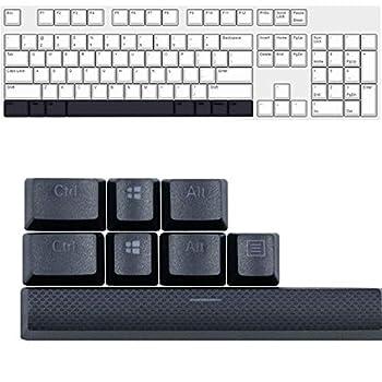Ecarke PBT Keycaps Key Caps Replacement for Corsair K70 K65 K95 Logitech G710 Keyboard Black
