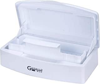 Gusnilo Professional Plastic Clean Tray � Removable Cean Tray, Self Draining Basket, Viewing Window - Cleans Nail, Hair, Salon and Spa Equipment (White)