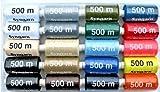 20 x 500 m di filo sintetico per macchina da cucire.