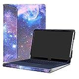 Alapmk Diseñado Especialmente La Funda Protectora de Cuero de PU para 14' ASUS ZenBook 3 Deluxe UX490UA Series Ordenador portátil,Galaxy
