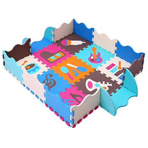 MQIAOHAM Children Foam Play mat Baby mats for Floor Sensory Babies...