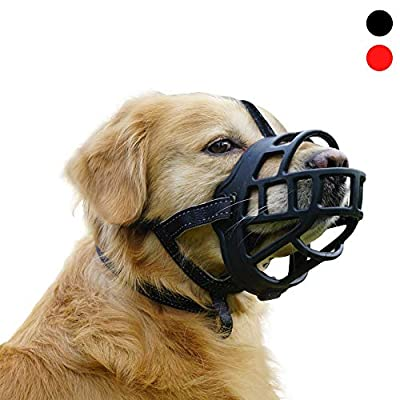 MATCHY2U Soft Silicone Basket Dog Muzzle  Allows 02032021064650