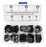HVAZI 285PCS Metric M3 M4 M5 M6 M8 M10 M12 Internal Tooth Starlock Washers Assortment Asso...