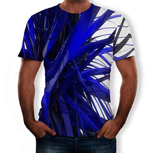 serliy😛Herren T-Shirts 3D Muster Kurzen Ärmels Kurzarm Shirt Sport Fitness T-Shirt Rundhalsausschnitt Lässige Graphics Tees