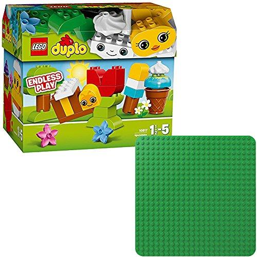 LEGO Duplo 2er Set 10817 2304 Kreatives Bauset + Grüne Bauplatte