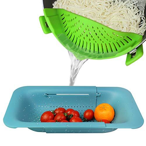 Pasta Strainer,Pot Strainer.Colander 2 Pack,Clip On Strainer,Fruits Vegetables Noodle Pasta Food...