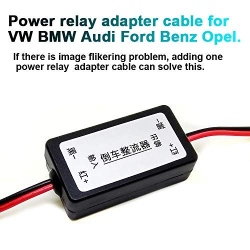Adapterkabel relai car camera achteruitrijcamera filter signaalfilter voor VW BMW Mercedes Opel Audi