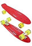 Karnage KRSCUT_G_Red Skateboard Mixte Enfant, Rouge, 23'