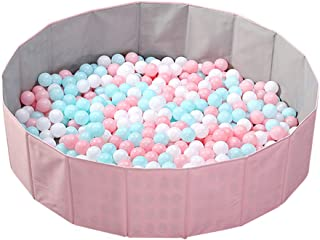 OMNISAFE Upgraded Kids Ball Pit, Folding Portable Balls Pool, Baby Playpen, Play Game Fence for Indoor Outdoor, 51Inch, Oversized (Pink)
