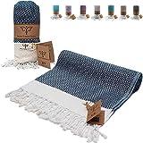 Smyrna Original Turkish Beach Towel | 100% Cotton, Prewashed, 39 x 71 Inches