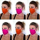 6-er Stoffmaske Gesichtsmasken stoffmasken mundschutz Baumwolle ELASTISCHE SCHLAUFEN waschbar Mundschutz Maske waschbar Gesichtsmaske wiederverwendbar Mehrwegmaske Schutzmaske Mund Nasen Maske