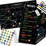 Magnetic Calendar for Fridge Chalkboard - Weekly & Monthly Black Dry Erase Refrigerator Board - 2020 Kitchen Menu Planner - 11' x 17'